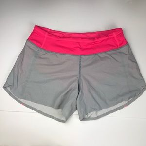 Lululemon RUN Speed Fossil Wee Stripe Gray Size 4